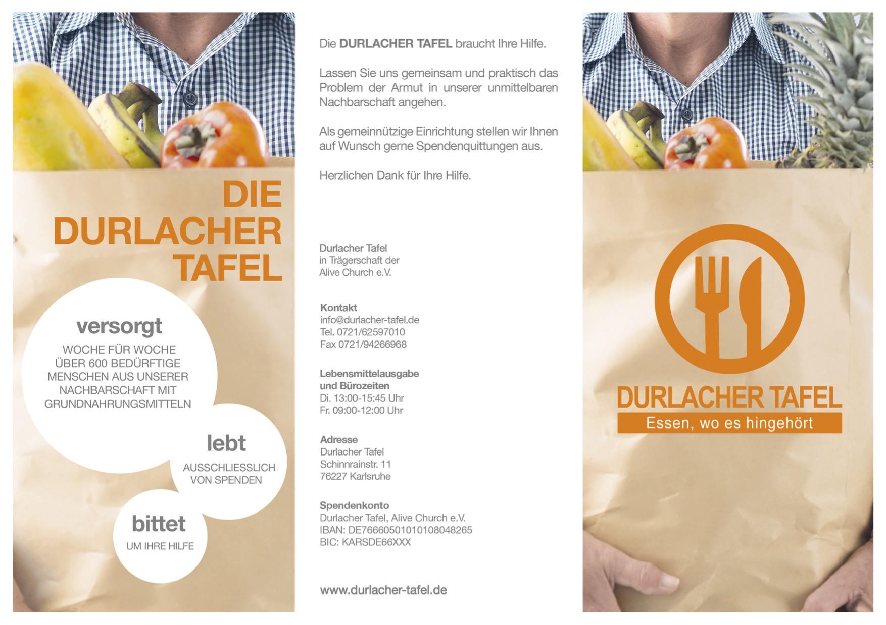 Unser neue Flyer zur Durlacher Tafel ist fertig und nun auch für alle online verfügbar.